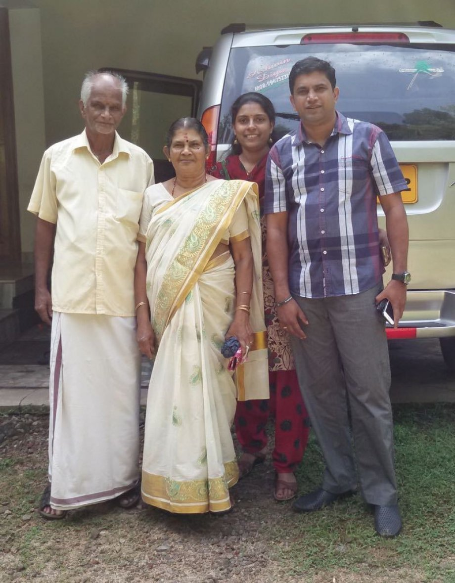 Anish with his wife and parents