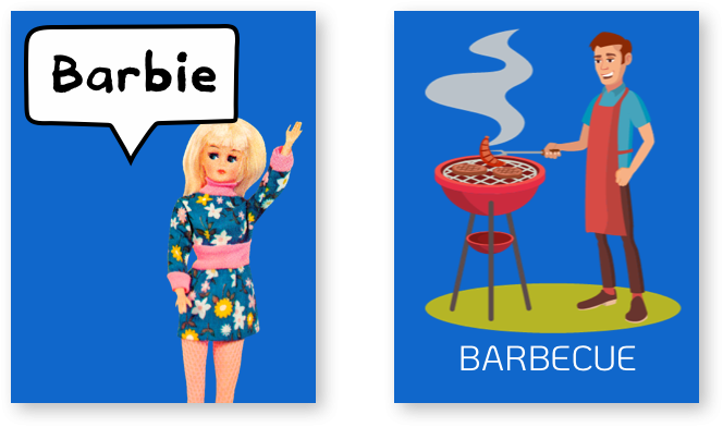 Pair barbie