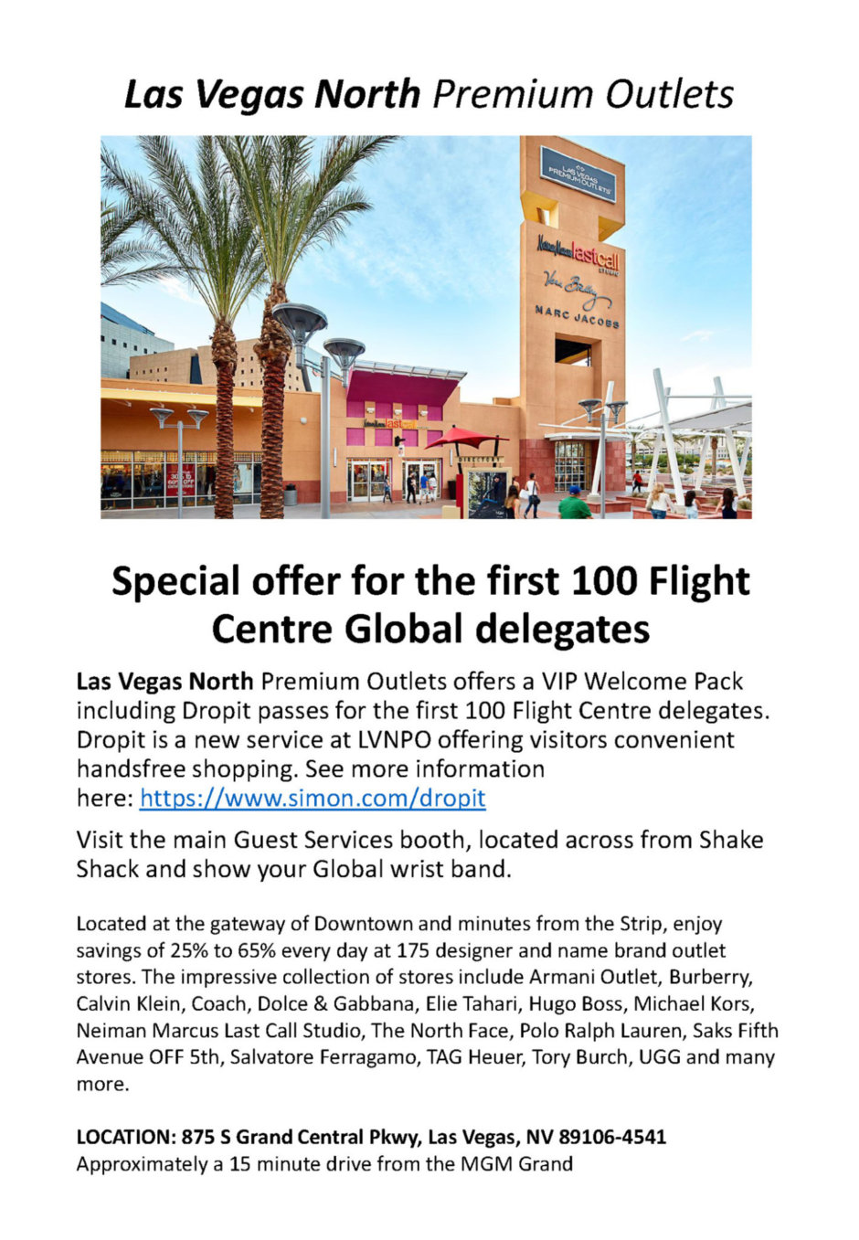 Las Vegas North Premium Outlets Global Offer