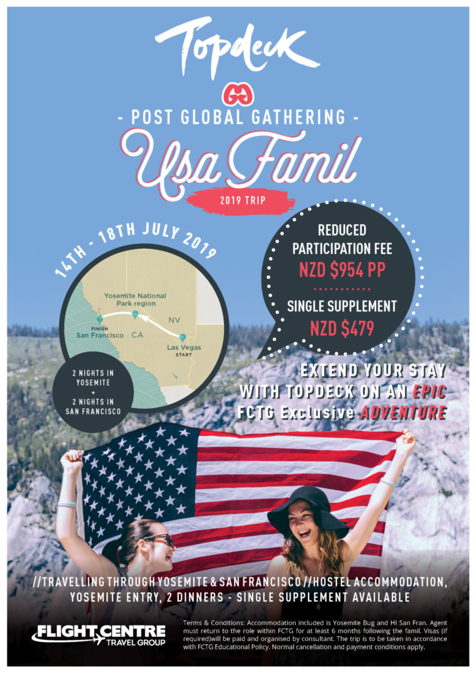 TD Global Gathering trip Flyer NZD